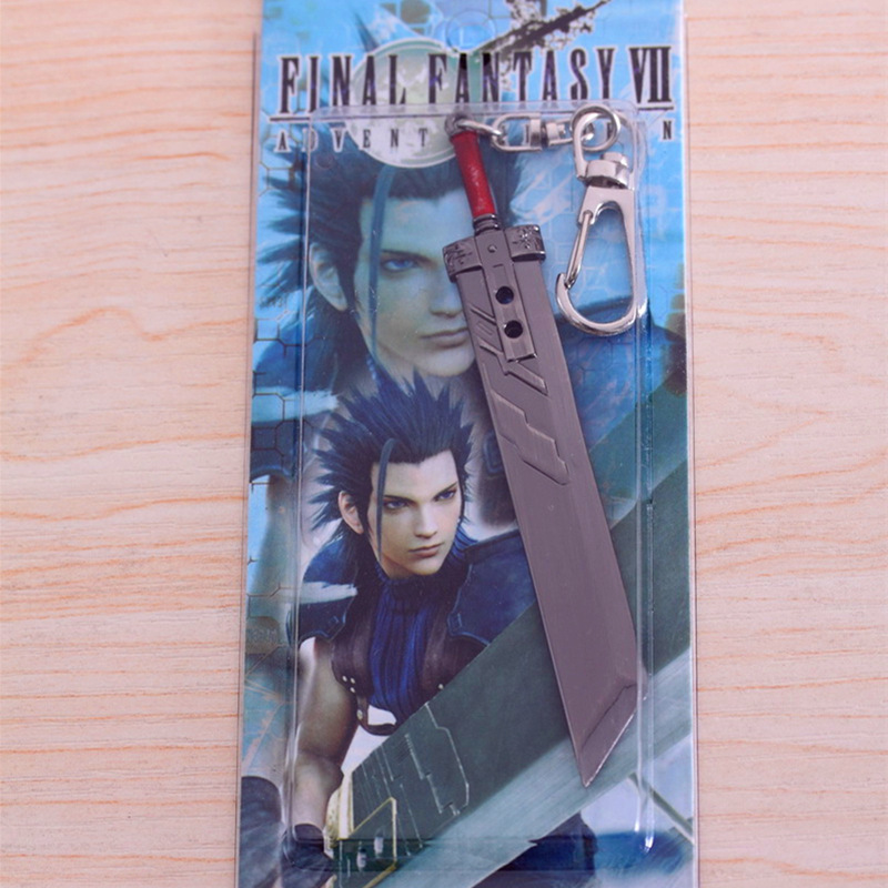 final fantasy 7 bayonet knife key chain keychain for keys ring holder anime keychain interesting things trinket small pendant(China (Mainland))