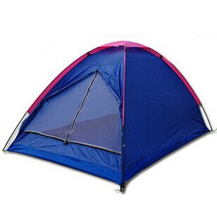 free shipping hot sale two person single layer 1 bedroom camping inflatable lawn equipment tent ZX-HW-1002(China (Mainland))