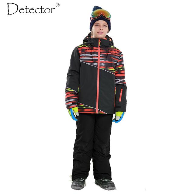 Detector Мальчики Открытый Лыжи Водонепроницаемый Ветрозащитный Теплые Лыжные Куртки Дети Зимой Сноуборд Костюм