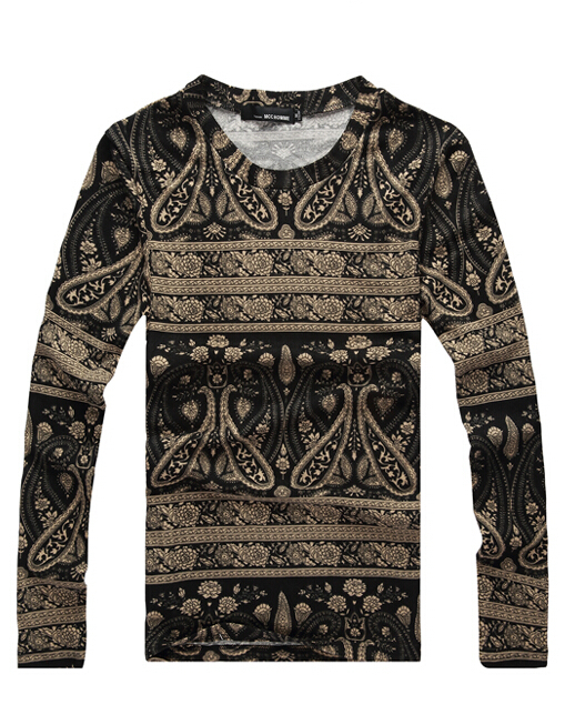 Free Shipping 2015 NEW Mens Fashion Pullover Printed Pattern O-Neck Thin  Brand Sweaters Plus Size M-5XL TX07