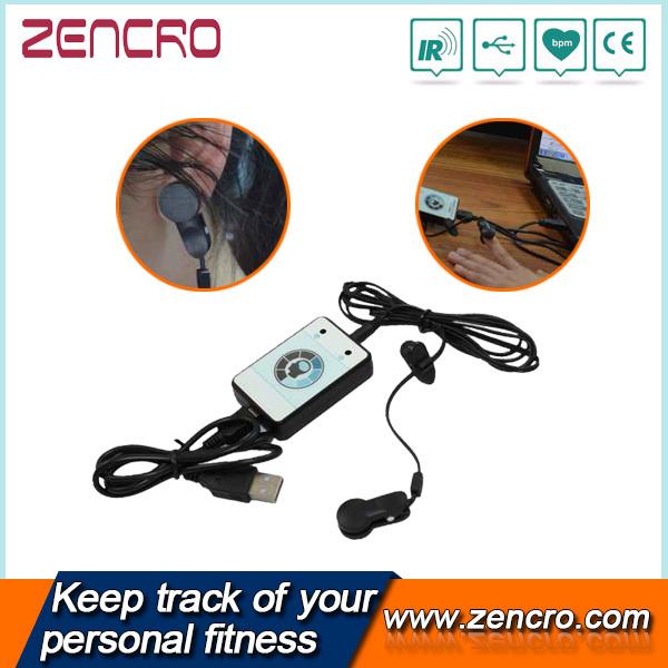 Infrared Ear/Finger Clip Heart Rate Sensor Pulse Monitor USB Transmitter(China (Mainland))