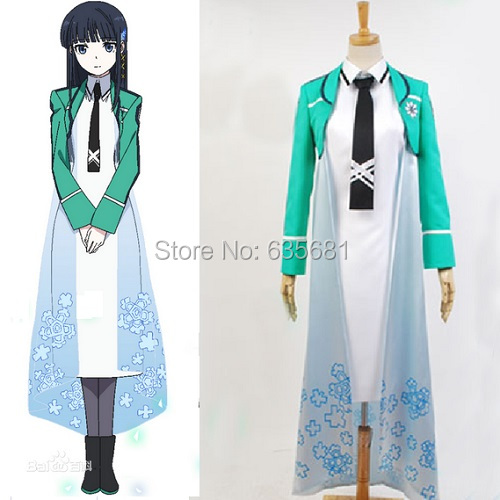 Cos Irregular Magic High School Miyuki Shiba Queen Cosplay Costume Course 1 Curriculum Long Uniform Girl Students - Cosme Store store