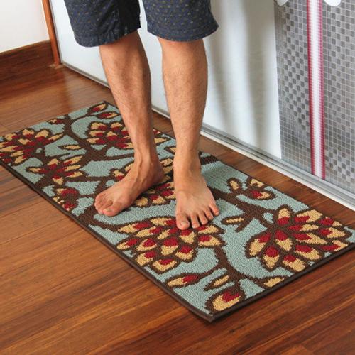 Decorative Shower Mats : Decorative green flower bathroom kitchen toilet rugs