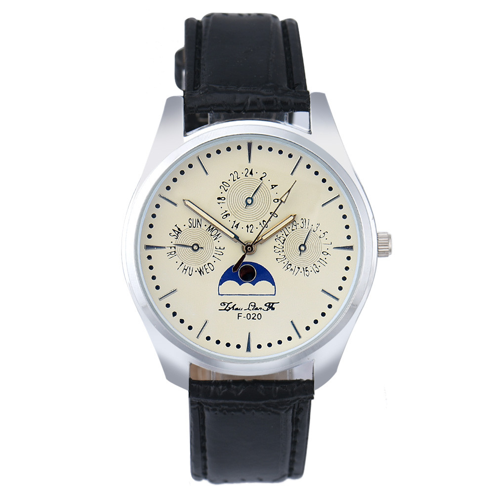 Mance Fashion mens watches for sale online Casual Faux Leather Analog Three Eyes Quartz Wrist Watches relogio hombre 2016 OnSale(China (Mainland))