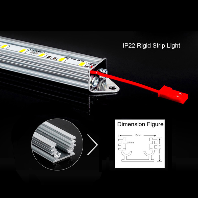 7W 5630 LED Bar Light 50CM Non-Waterproof 5630 SMD 36LEDs/M LED Rigid Strip DC 12V 5630 LED Tube Hard LED Strip<br><br>Aliexpress