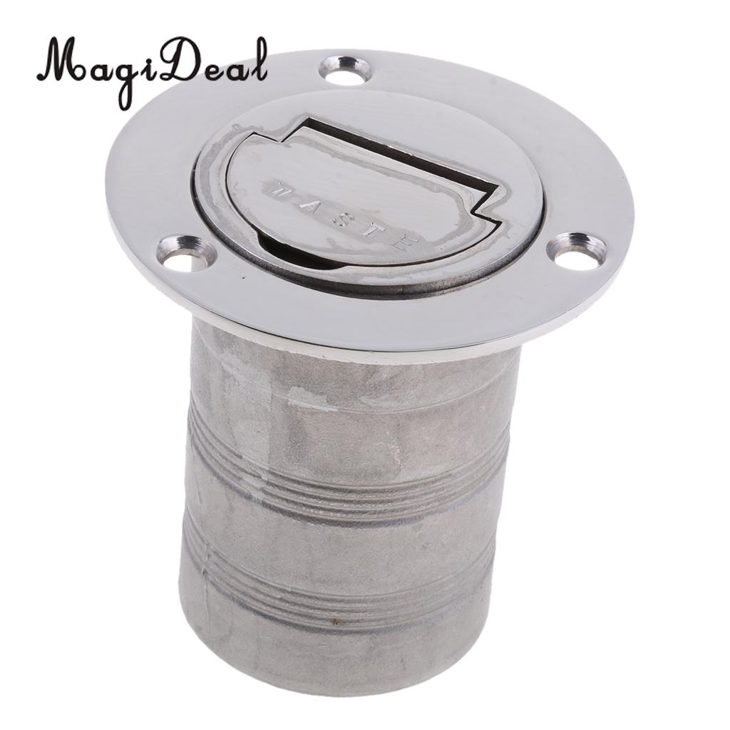 MagiDeal Boat Deck Fill / Filler Keyless Cap 50mm - Waste - 316 Stainless Steel for Kayak Canoe Boating Dinghy Yacht Replacment