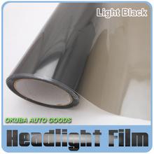 Wholesales 8 Rolls Size 30cm*10m Auto Car Sticker Smoke Fog Light Black HeadLight Taillight Tint Vinyl Film Sheet car decals(China (Mainland))