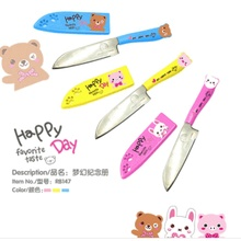 Bling Recommend Cartoon fruit knife stainless steel kitchen knife for fruit and vegetable rb147(China (Mainland))
