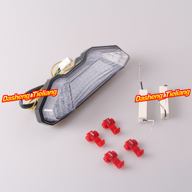 For YAMAHA FZ-09 &amp; MT-9 2014 Integrated LED Tail Light / Taillight Turn Signals Clear<br><br>Aliexpress
