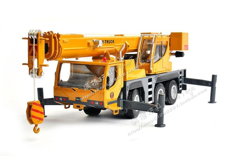 Free shipping Alloy car models car model huayi hy large cranes crane truck model toy /baby toy(China (Mainland))