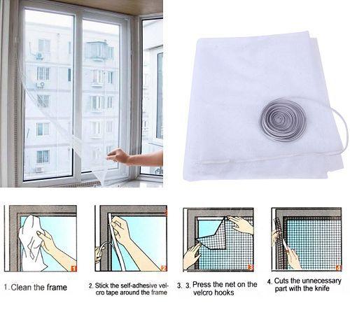 Insect Fly Bug Mosquito Door Window Net Netting Mesh Screen Sticky Velcro Tape 96203(China (Mainland))