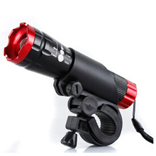 Camping Hiking Equipment High Power LED Flashlight Light Focusing Mountain Accessories Racks And Flashlight Suit Free Shipping