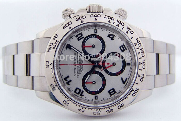 Здесь можно купить  2015 - WOW New Luxury White HOT Silver Arabic 116509 Stainless Steel Automatic Mechanical Mens Watch Men