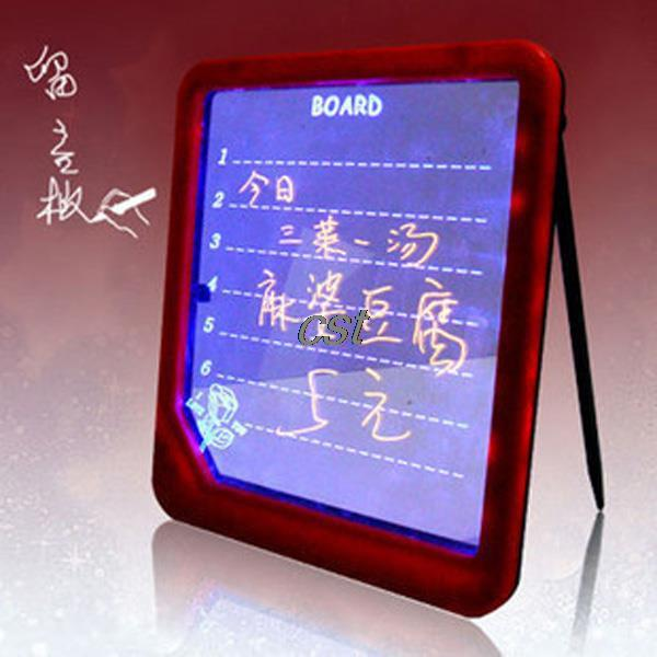 Гаджет  Magic LED Light Illuminate Message Writing Sign Board Display for Home Stores School Bars Meeting room None Офисные и Школьные принадлежности