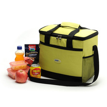 Large Thicken Folding Fresh Keeping Waterproof Nylon Cooler Bag Lunch Bag For Steak Insulation Thermal Bag Insulation Ice Pack(China (Mainland))