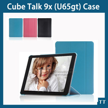 Cube Talk 9X U65GT Smart case Fashion Slim Leather Folio Sleep cover Stand For Cube talk 9X 9.7″ Tablet + Screen protector