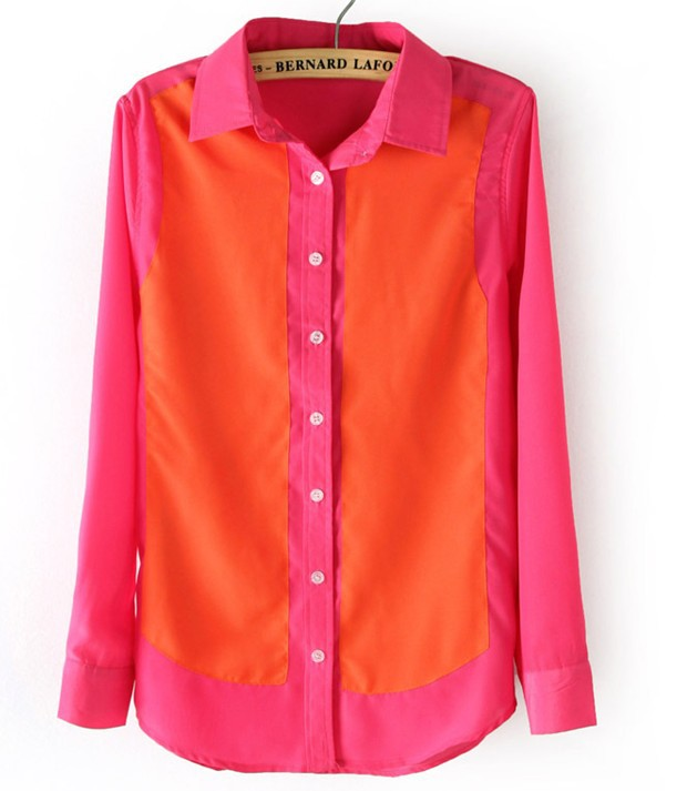 Womens Bright Colored Blouses 21