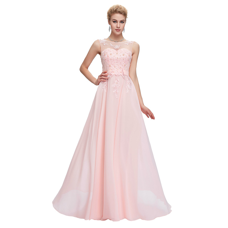 Grace karin light pink bridesmaid dresses 2017 blue red for Plus size pink wedding dresses