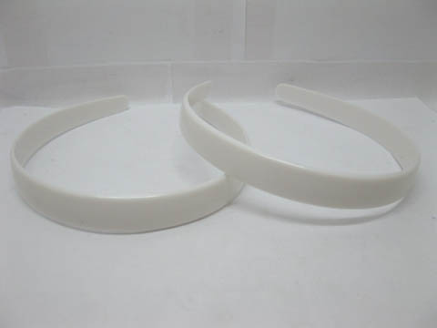 Free Shipping 20Pcs/Lot New White Plastic Headbands Jewelry Finding Plain Hairband without Teeth 20mm Wide(China (Mainland))