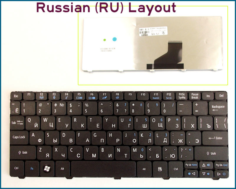 New RU Russian Layout Keyboard for Acer Acer Emachine 350 eM350 NAV51 Laptop Black(China (Mainland))