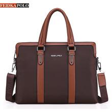 Famous Brand Bag Men Briefcase Leather portadocumentos Mens Tote Shoulder Bag Men messenger bags Men's Crossbody Bags Briefcase(China (Mainland))