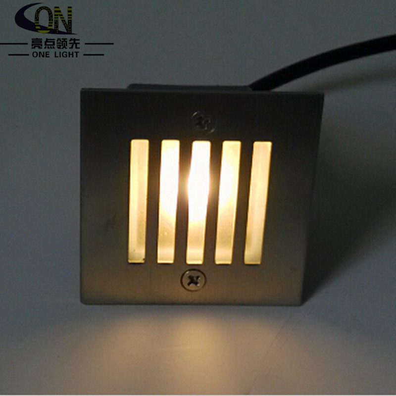 Free Shipping 3W LED underground lighting recessed buried floor Oriented lamp indoor/ outdoor wall lights AC85-265V(China (Mainland))