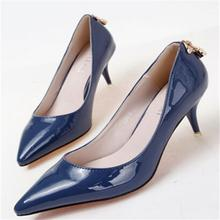 Women Pumps Shoes Vintage Sexy Red Bottom Pointed Toe High Heels  2015 Brand New Design Less Platform Pumps