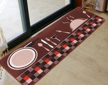 Printing Absorbent Non-slip Bathroom Carpet  Hallway  Floor Door Mats Home Long Kitchen Mat Living Room Rug Bedroom Mat(China (Mainland))