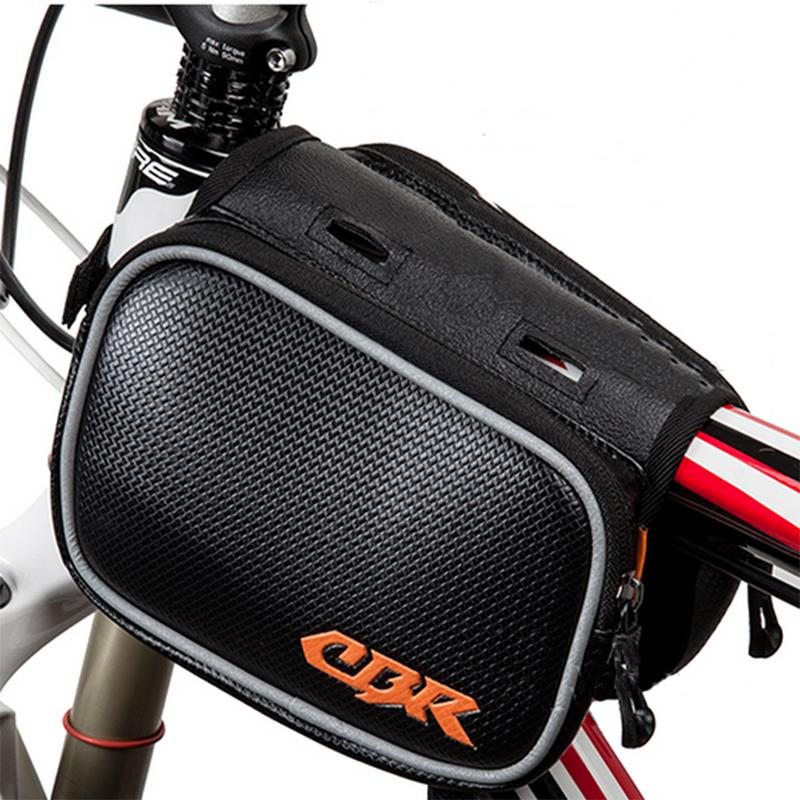 5.5 inch or Below Size Cell Phone Bicycle Basket Bike Bag Phone Front Tube Bag Outdoor Cycling Sport Double Bag(China (Mainland))
