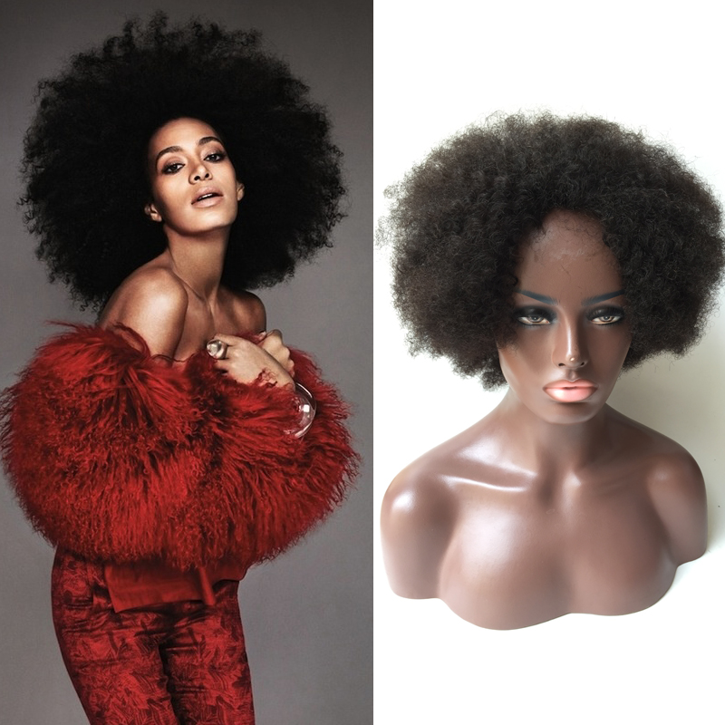 Free Shipping cheap short Afro Kinky Curly Full Non Lace Glueless Brazilian Virgin Hair Wigs Curly Capless 100% Human Hair Wigs<br><br>Aliexpress