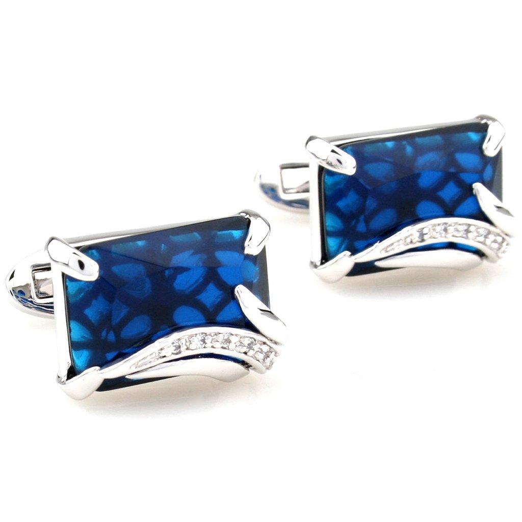 Cufflinks Retail Zircon series male silver blue gold brown cufflinks nail sleeve 2500016 free shipping+free gift box<br><br>Aliexpress