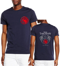 Buy game thrones tops harajuku t shirts 2017 new fashion fire blood house targaryen printing cotton casual t shirts man for $6.67 in AliExpress store