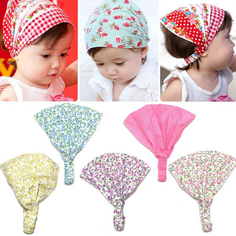 2015 New Arrival Baby Girl Kid Newborn Flower Headband Hair Wear Accessories Headscarf Bandana Hat 5 Colors Drop shipping(China (Mainland))
