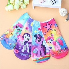 1-10 age cotton baby socks 3D printing cartoon pony Burberry toddler kids socks boys girls children gifts anti slip floor socks