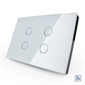 Livolo Wireless Switch Touch Light Switch with LED Indicator US Standard Wireless Wall Switch Crystal Glass