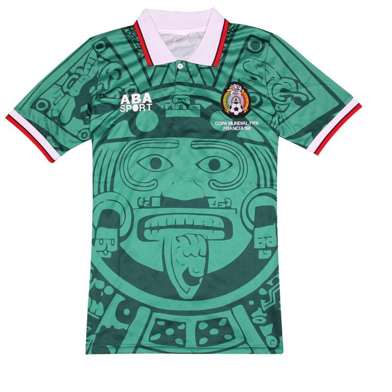 Football Soccer Jerseys Commemorative Edition Mexico 1998 Retro Jerseys Home Green Away White Mexico1988 Limited Edition(China (Mainland))
