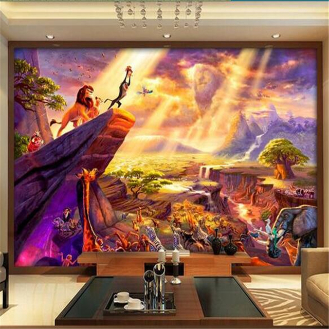 Papel de parede 3d room wallpaper custom mural non woven for Fairy tale wall mural