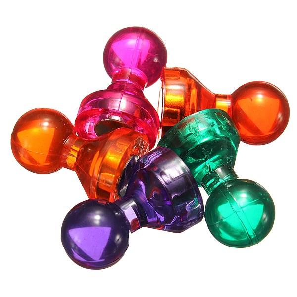 Hot Sale 14pcs color magnetic thumbtacks Strong neodymium noticeboard skittle men / pin magnets Fridge Whiteboard DIY(China (Mainland))