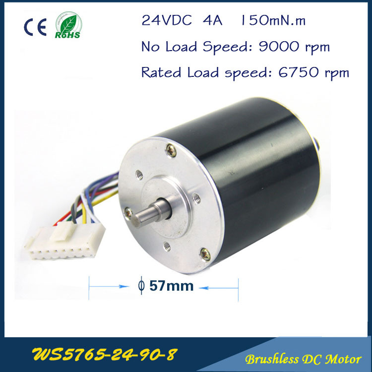 Buy 9000rpm 105w 24v 5 5a 57mm 65mm 3