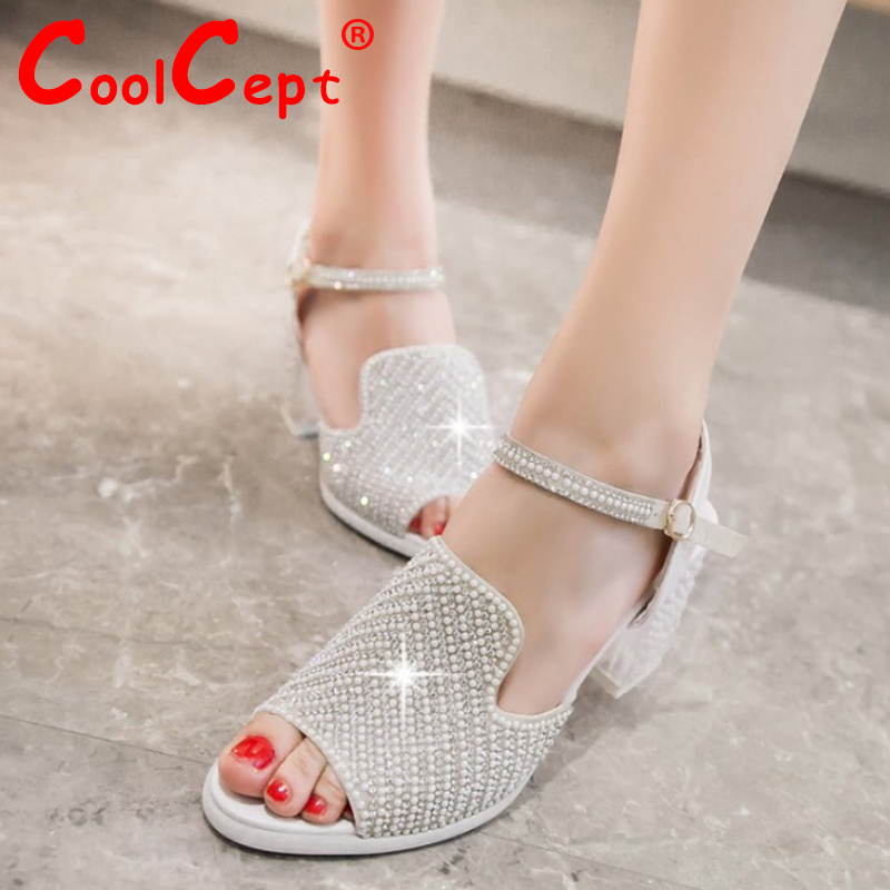 women ankle strap stiletto high heel sandals rhinestone brand sexy fashion ladies heeled footwear heels shoes size 34-39 P17345<br><br>Aliexpress