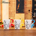 Creative Saxophone Music Bone China Mug 240ml Ceramic Tea Coffee Mug Porcelain Zakka Novelty for Gift
