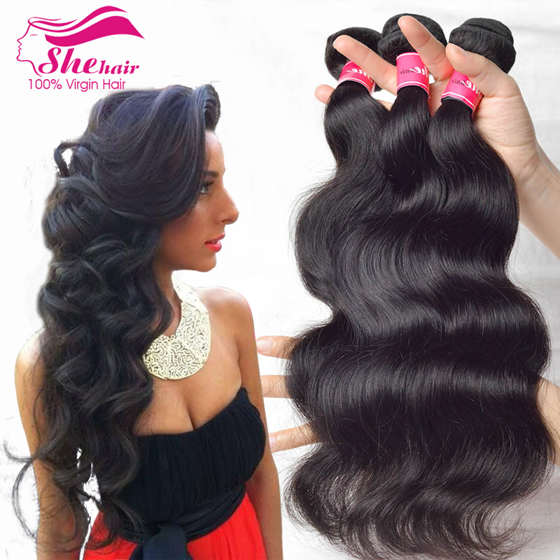7A Peruvian Virgin Hair Body Wave 3 Pcs unprocessed Virgin peruvian hair Peruvian Body Wave She Hair Products Cheap Human Hair(China (Mainland))