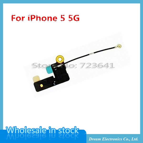 50pcs/lot Mobile Phone Flex Cables For iPhone 5 5G WiFi Antenna Signal Flex Cable Ribbon Replacement Parts Free Shipping(China (Mainland))