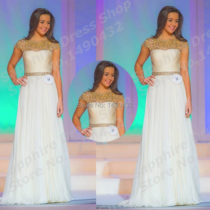 Dress pageant teen white