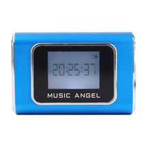 Music Angel Mini Speaker Multimedia Speaker Support Tf Card U Disk Fm Radio with Led Screen Alarm Clock Music Boombox JH-MD05(China (Mainland))