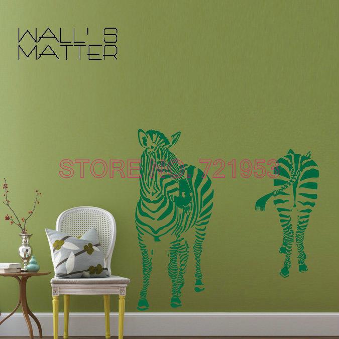 90 57cm Zebra Living Room Animals Wall Decor Wall Stickers Sofa Bedroom Tv Backdrop Stickers