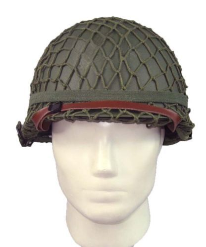 NEW WW2 U.S M1 Military Steel Helmet With Netting Cover WWII Equipment Replica(China (Mainland))