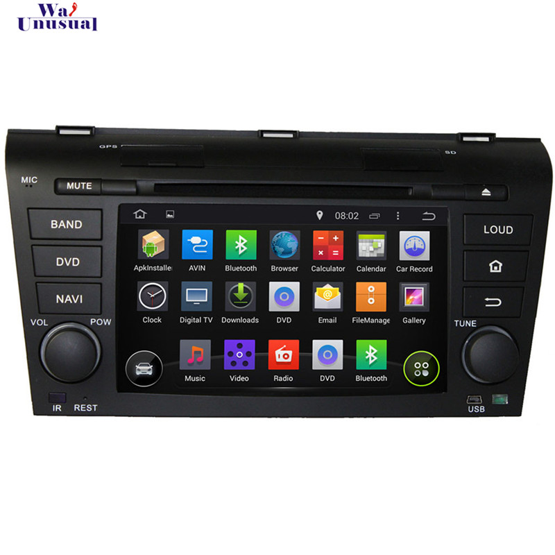 800*480 7 inch 1.6 GHZ two dins Pure Android 5.1.1 Auto radio Car DVD for MAZDA OLD 3 2004 - 2009 with 3G Wifi Free Map GPS(China (Mainland))
