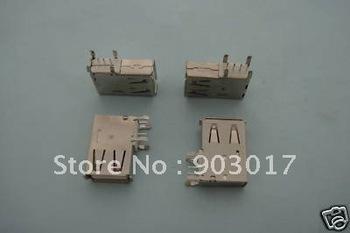 Female USB 4 Pin Connector AF Side DIP 90 degree ASSY L 20 pcs per lot