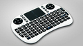 100 Original 2 4G Wireless Mini Wifi QWERTY Keyboard Air mouse case Touchpad For Android TV